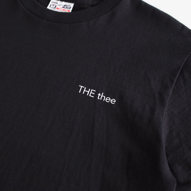 nisica ニシカ THE thee プリント半袖Tシャツ Black