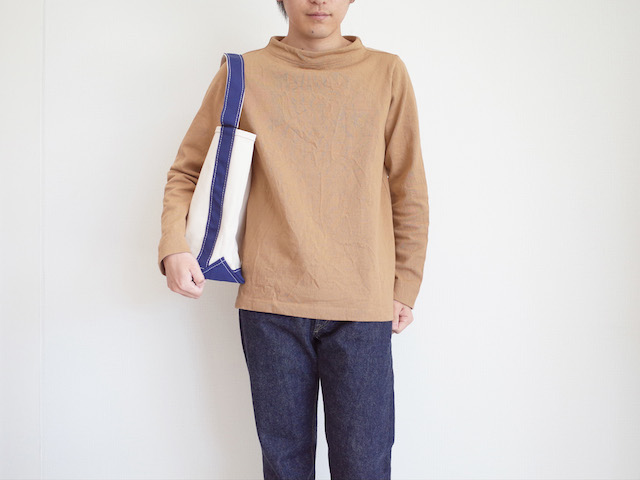 nisica ガンジーネックカットソー Brown