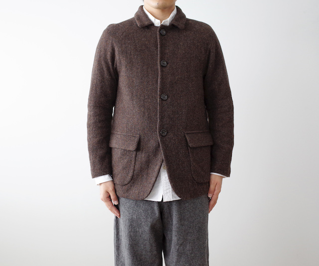 nisica tweed jacket brown