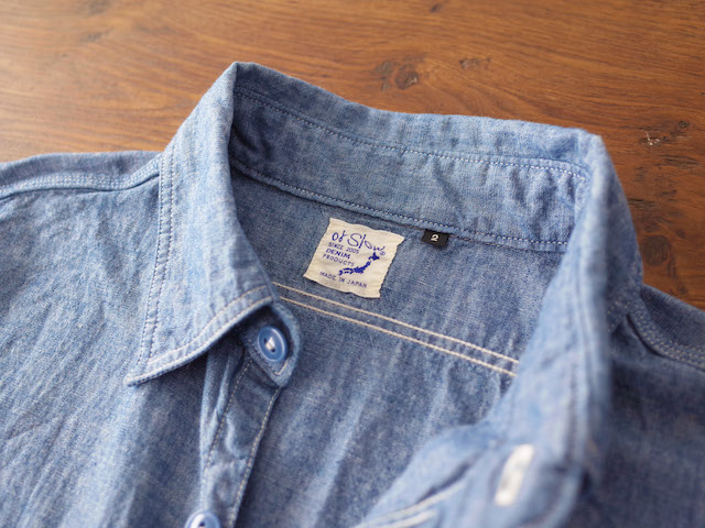 orSlow Chambray Work Shirts Blue