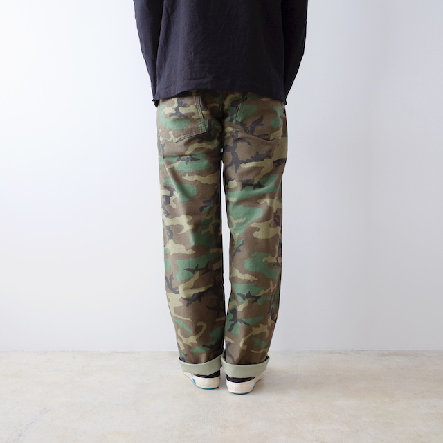 orSlow US Army Fatigue Pants Woodland Camo