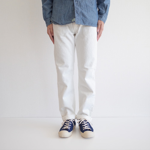 orSlow 107 Ivy Fit White Jeans One Wash