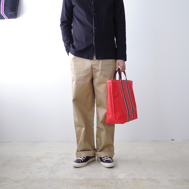 TEMBEA 3 Tone Tote New Red × Natural / Black