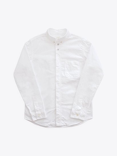 nisica  長袖ボタンダウンシャツ White