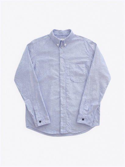 nisica  長袖ボタンダウンシャツ Blue