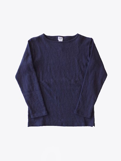 <img class='new_mark_img1' src='https://img.shop-pro.jp/img/new/icons21.gif' style='border:none;display:inline;margin:0px;padding:0px;width:auto;' />【40%OFF】Tieasy Organic Boatneck Basque Shirt - Dk Navy