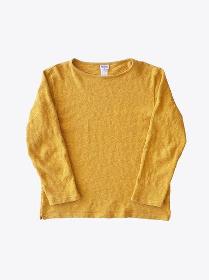 Tieasy Organic Boatneck Basque Shirt - Mustard