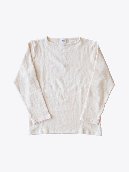 <img class='new_mark_img1' src='https://img.shop-pro.jp/img/new/icons21.gif' style='border:none;display:inline;margin:0px;padding:0px;width:auto;' />【40%OFF】Tieasy Organic Boatneck Basque Shirt - Natural