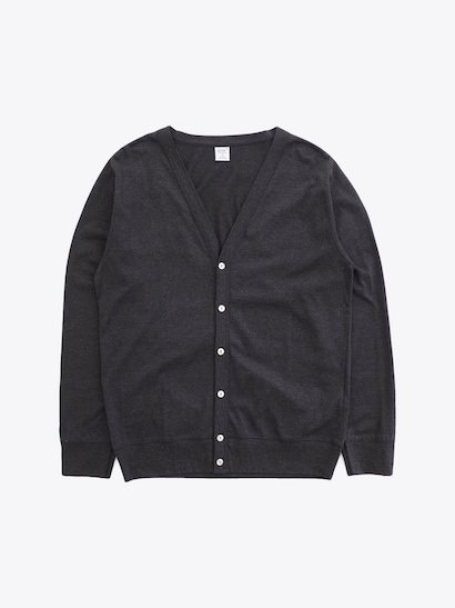 gicipi Silkete Cotton Cardigan - Carbon