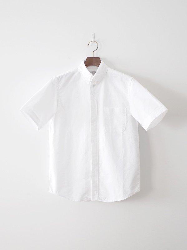 nisica 半袖ボタンダウンシャツ White