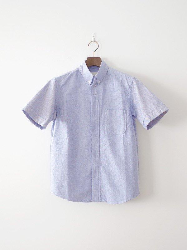 nisica 半袖ボタンダウンシャツ Blue
