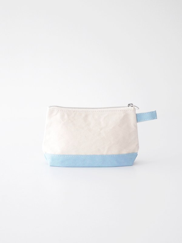 TEMBEA Toiletry Bag - Natural / French Blue