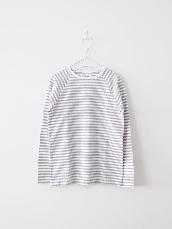 Charpentier de Vaisseau  Middle Stripe Long Sleeve - Gray × White
