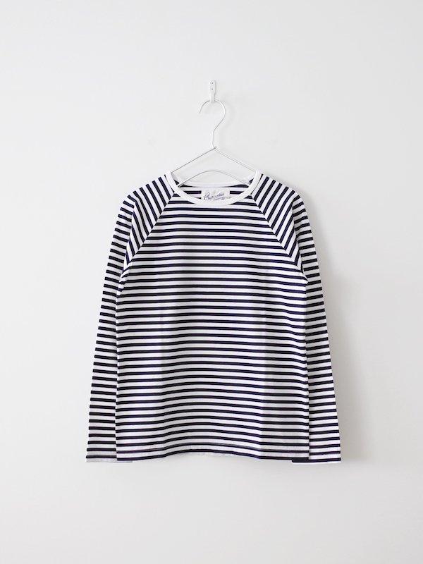 Charpentier de Vaisseau  Middle Stripe Long Sleeve - Navy × White