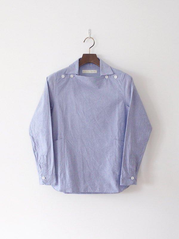 nisica 長袖デッキマンシャツ Blue