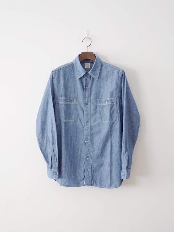 orSlow Chambray Work Shirts - Blue