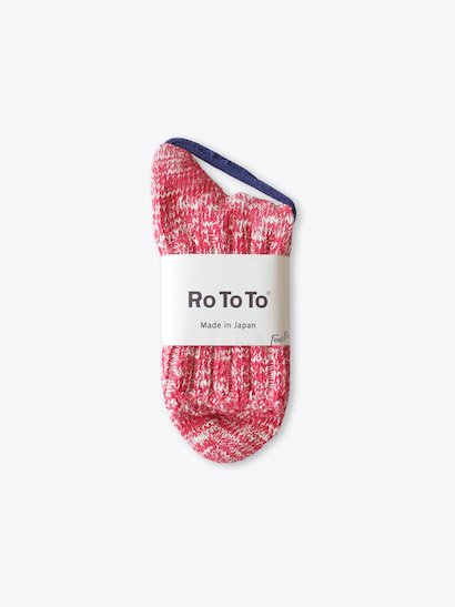 RoToTo Low Gauge Slub Socks - Red
