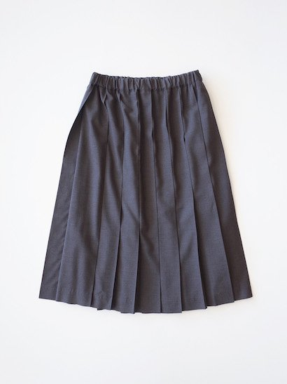 Charpentier de Vaisseau  プリーツスカート サマーウール Dark Gray【2018SS】