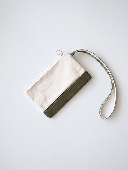 TEMBEA Envelope Small - Natural / Olive