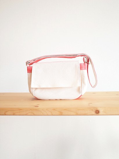 TEMBEA Toy Bag - Natural / Coral Pink