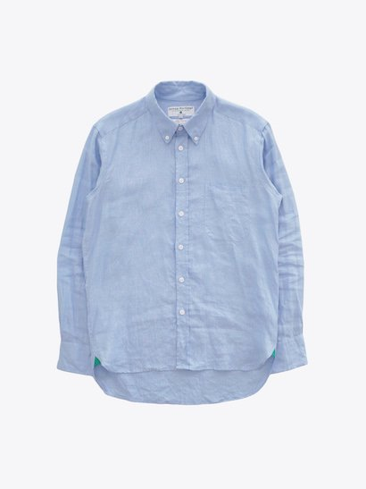 James Mortimer Irish Linen B.D Shirts - Cool Blue