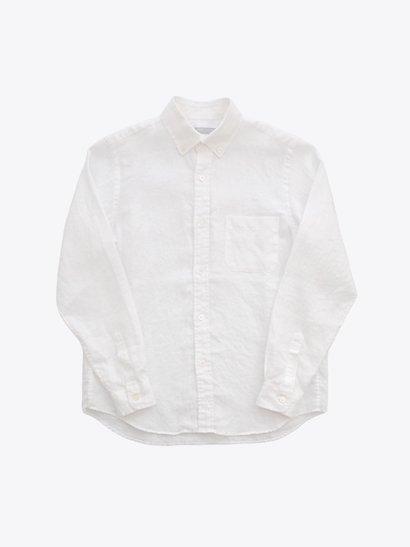 STANDART AT HAND Simon リネンボタンダウンシャツ White