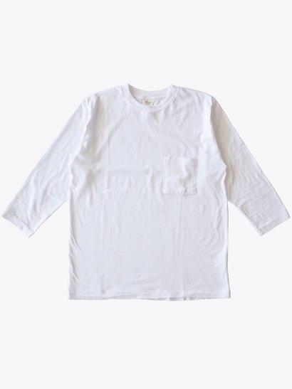 SBTRACT  8分袖ポケットTシャツ White
