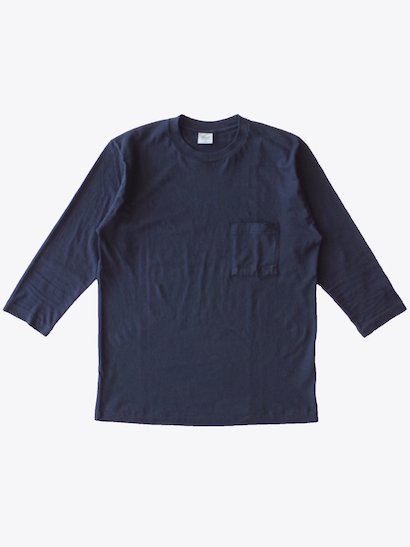 SBTRACT  8分袖ポケットTシャツ Navy Black