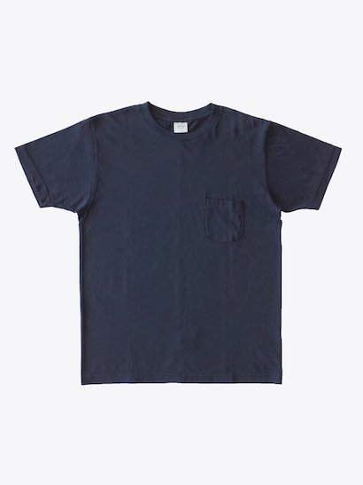 SBTRACT  Center Seam C/N Tee Shirts - Navy Black