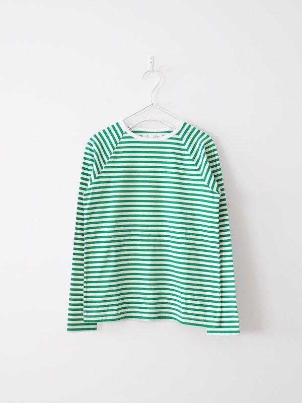 Charpentier de Vaisseau  Middle Stripe Long Sleeve - Green × White