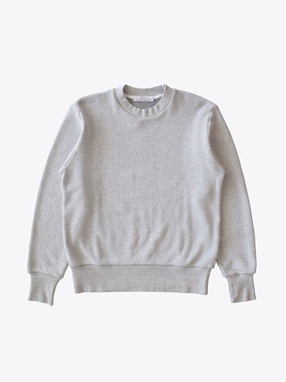 SBTRACT  Crew Neck Rib Stitch Knit - Gray