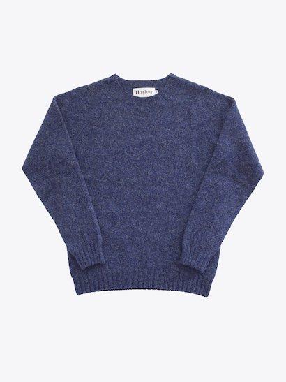 Harley of Scotland  Shetland Sweater - Denim