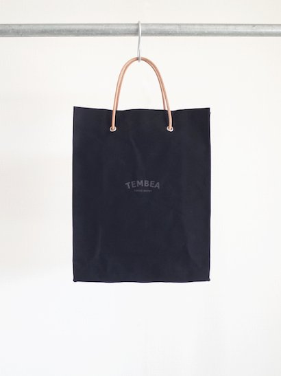 TEMBEA  Paper Tote Logo - Black