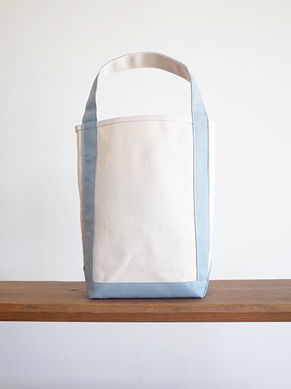 TEMBEA  Baguette Tote - Natural / Blue Gray