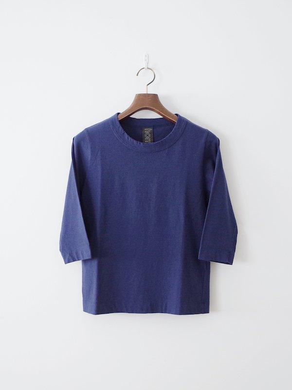 homspun 天竺七分袖Tシャツ TOPネイビー