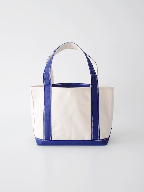 TEMBEA Open Tote Small Pocket - Natural / Navy
