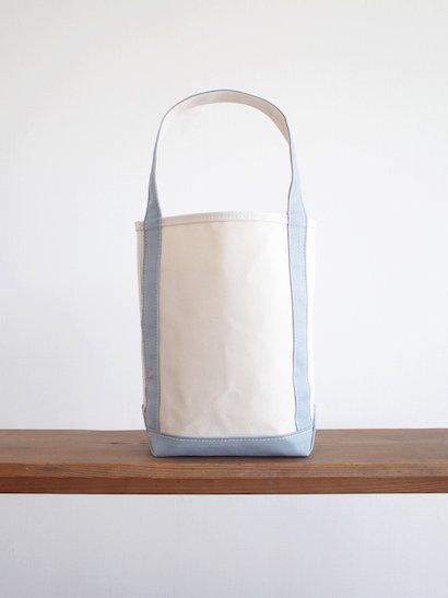 TEMBEA  Baguette Tote Small - Natural / Blue Gray