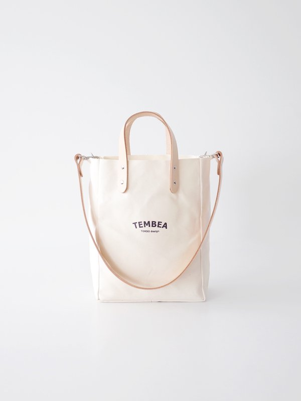 TEMBEA Club Tote XS Logo - Natural