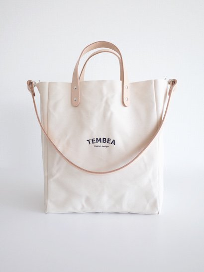 TEMBEA Club Tote Logo - Natural