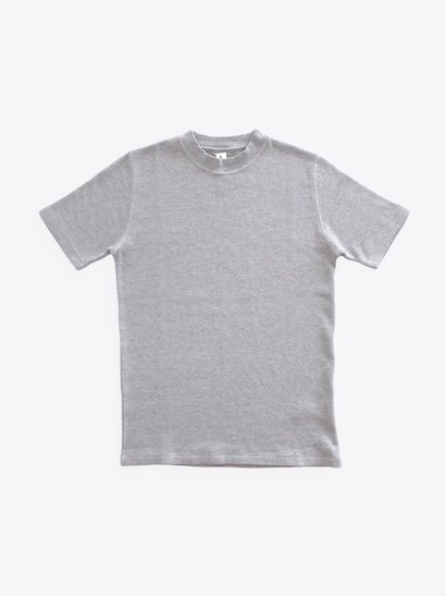 Ohh! Thermal S/S Rib Crew - Top Gray