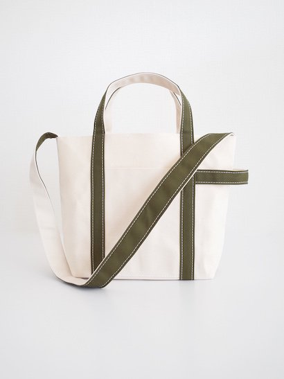 TEMBEA  Club Tote Small - Natural / Olive
