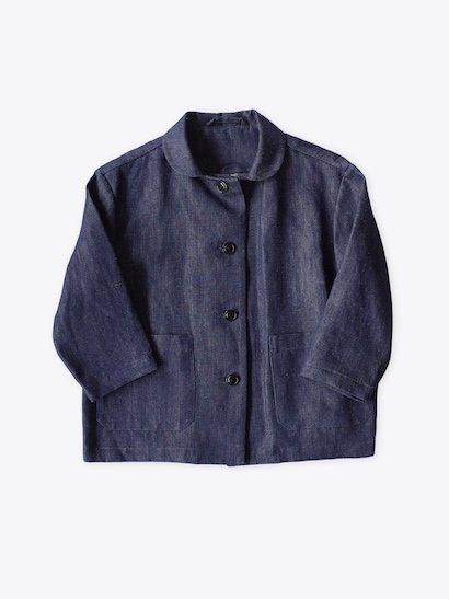 Lin francais d'antan  Moreau Short Jacket - Dark Indigo