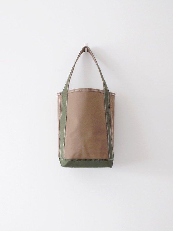 TEMBEA Baguette Tote Small - Khaki / Deep Green