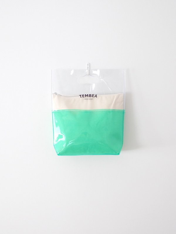 TEMBEA Vinyl Bag Small 2Tone PVC - Clear / Green