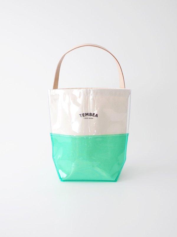 TEMBEA Baguette Tote 2Tone PVC - Clear / Green
