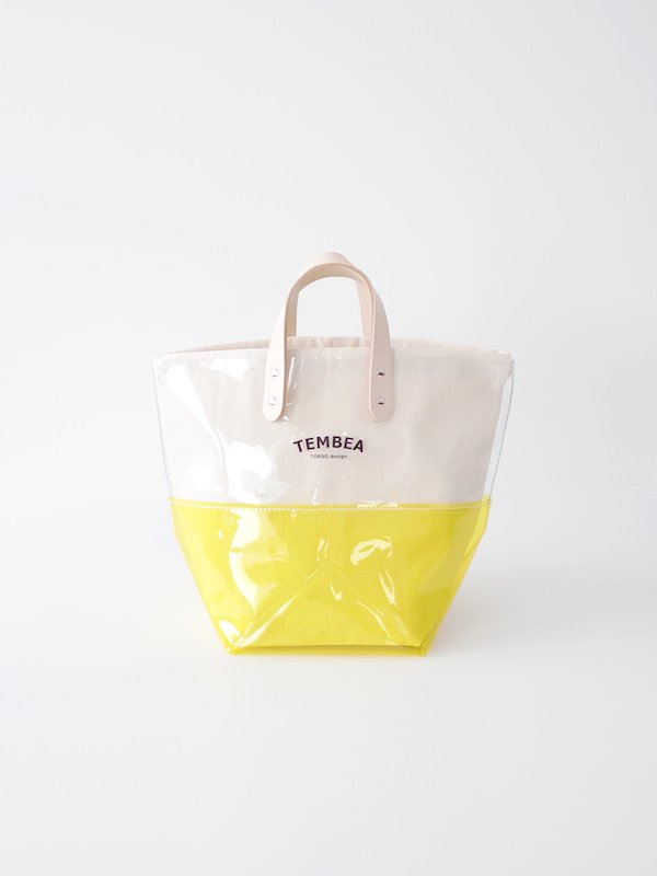 TEMBEA Delivery Tote 2Tone PVC - Clear / Yellow
