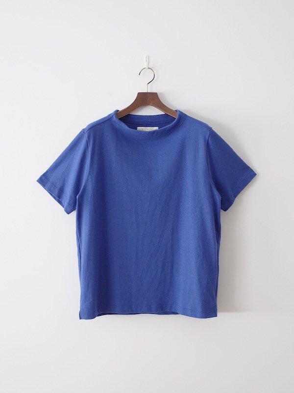 nisica 半袖ガンジーネックカットソー Blue