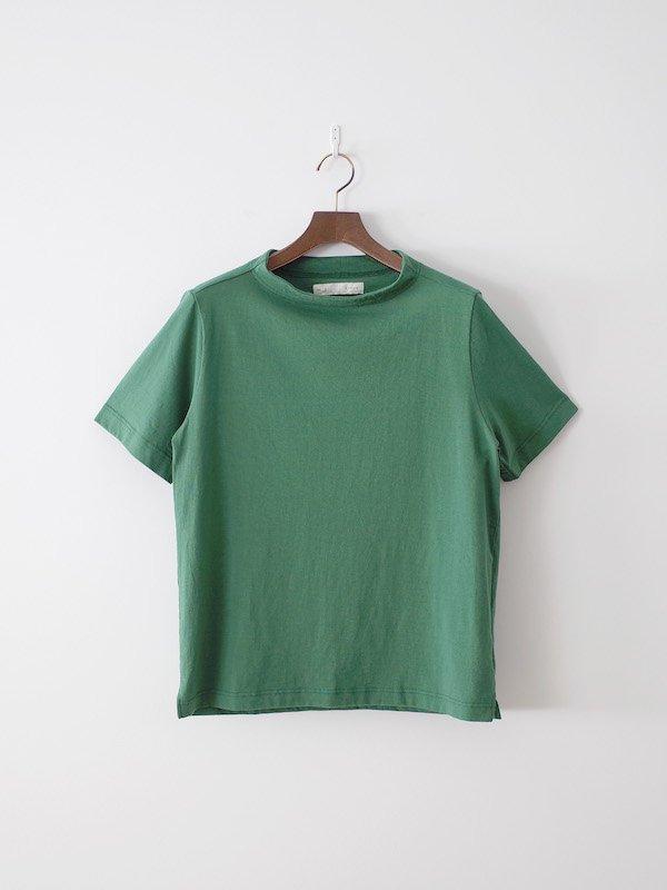 nisica 半袖ガンジーネックカットソー(薄手)Green