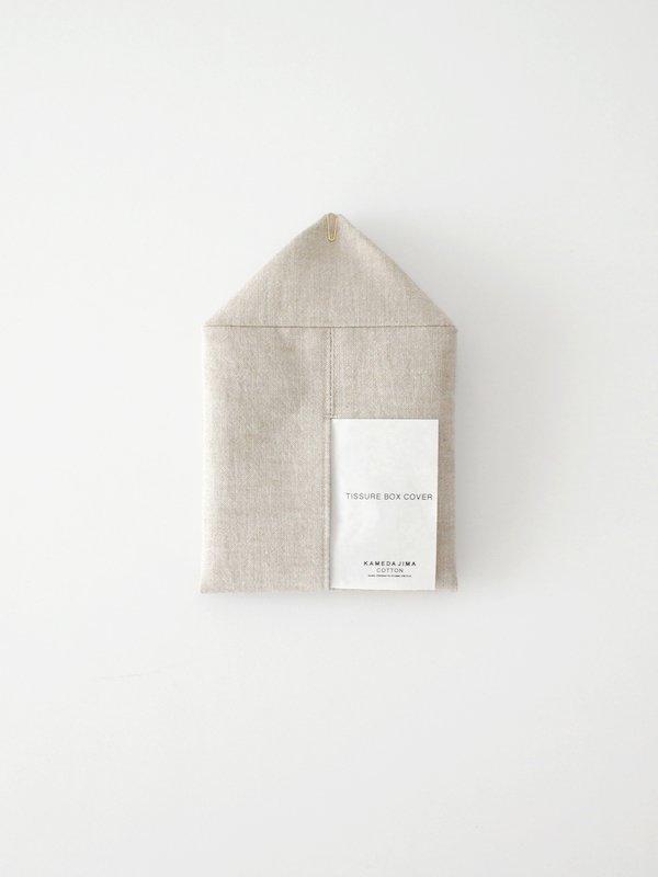 F/style 亀田縞のティッシュボックスカバー 茶