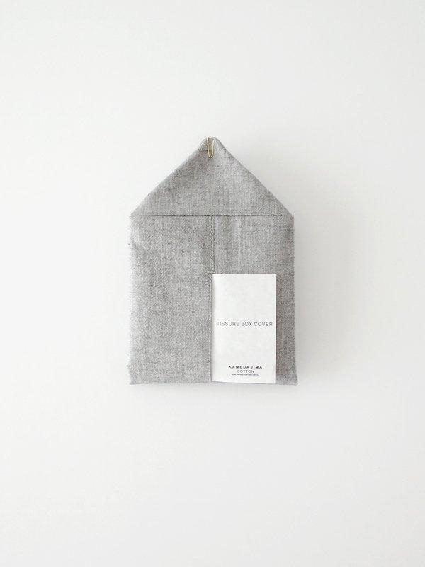 F/style 亀田縞のティッシュボックスカバー 黒鼠